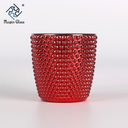 Red metal candle holders tealight candle holders wholesale
