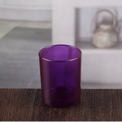 China Small glass votive holders purple candle holders wholesale factory