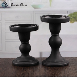 Wedding decorations candle holder black pillar candle holders supplier