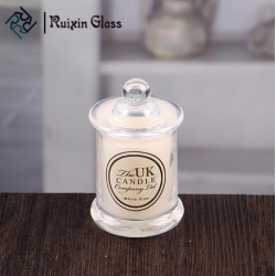 China Wholesale glass votive candles small candle jar with dome lid factory