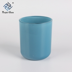 Wholesale high quality ceramic candlestick blue candle holders set of 3