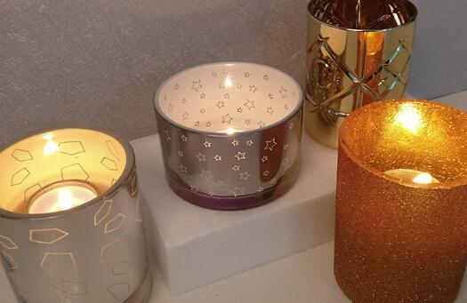 wholesale mercury glass votive glass candlestick for wedding
