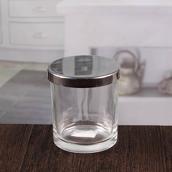 factory direct wholesale clear votive holders small candle jars with metal cover china candle. Black Bedroom Furniture Sets. Home Design Ideas